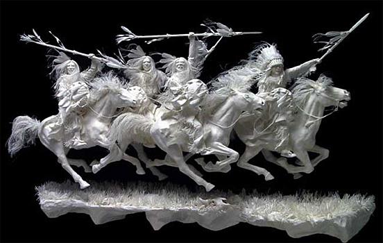 Incríveis esculturas de papel