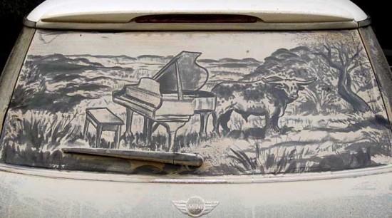 Blog de recantovirtualdasil : Recantovirtualdasil, Ilustrações em carros sujos por Scott Wade