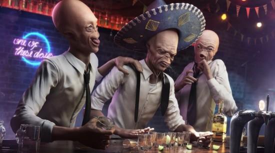 Drunk Aliens por Rafae Vallaperde - CG Challenge