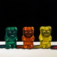Pinturas fofinhas de Gummy Bear por Jeanne Vadencouer