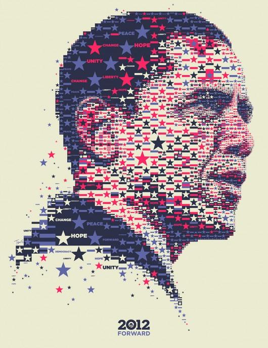 Obama: 2012 Stars and Stripes