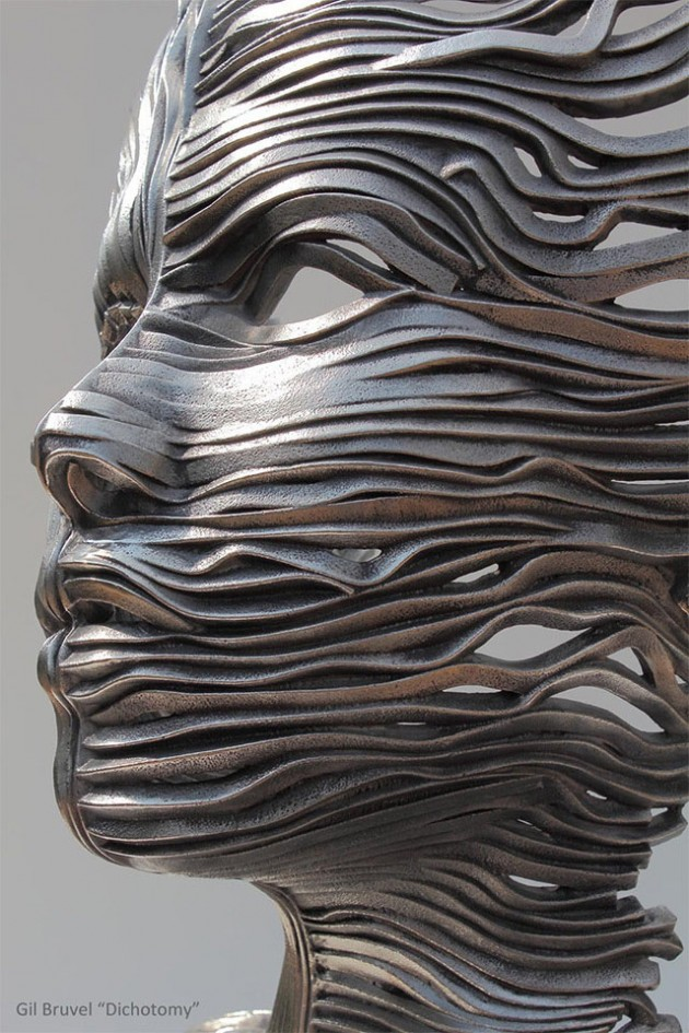 1-girl-face-steel-scultpure-by-gil-bruvel
