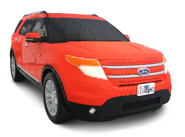 carro ford explorer criada com 380 mil pe as de lego. Black Bedroom Furniture Sets. Home Design Ideas