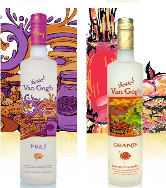 Vodka Van Gogh expoe artes do pintor em sua garrafa-3