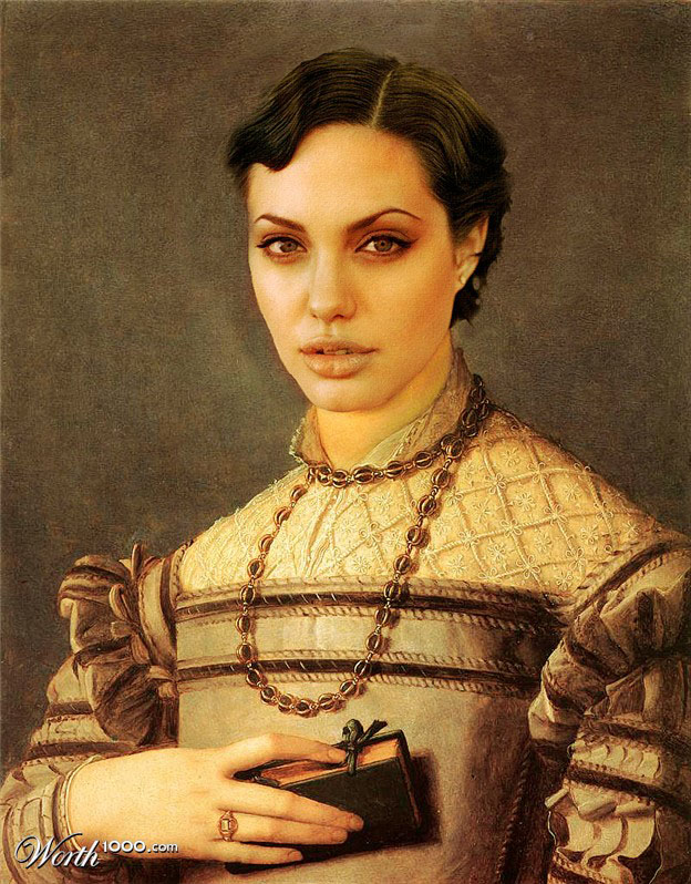3-angelina-jolie-old-art-celebrity-painting-by-dnunciate