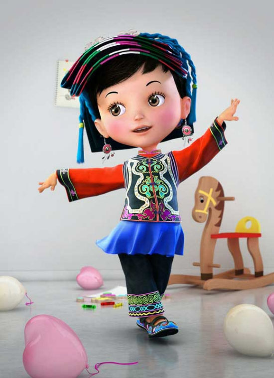 4-beautiful-girl-3d-cartoon-character