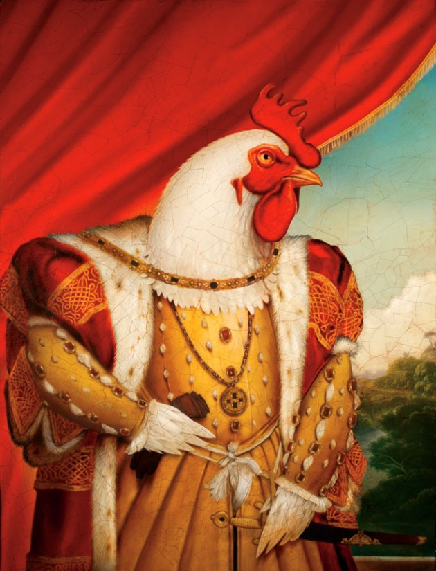chicken-king-painting by tim-obrien
