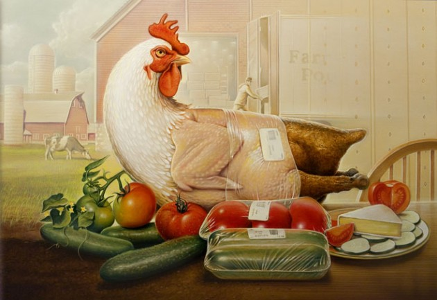 chicken-painting by tim-obrien