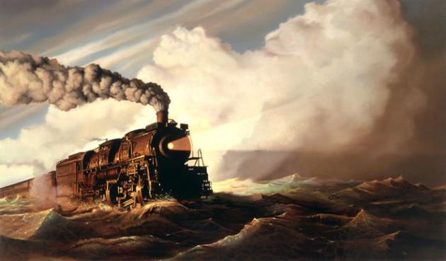 trainocean-painting by tim-obrien
