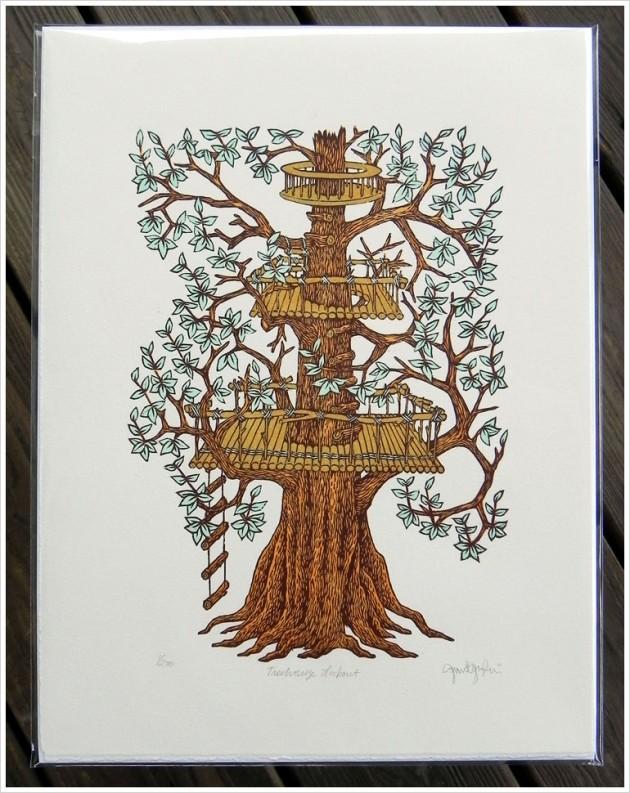 treehouseLookout_woodcut