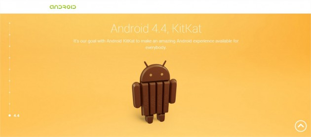 Android KitKat - Google Chrome