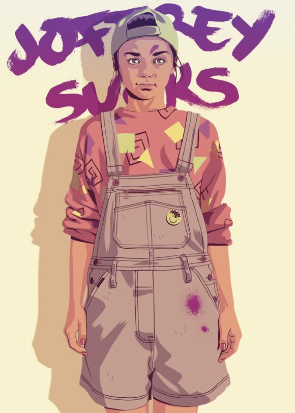 Arya-Stark-Modern-Illustration-580x812