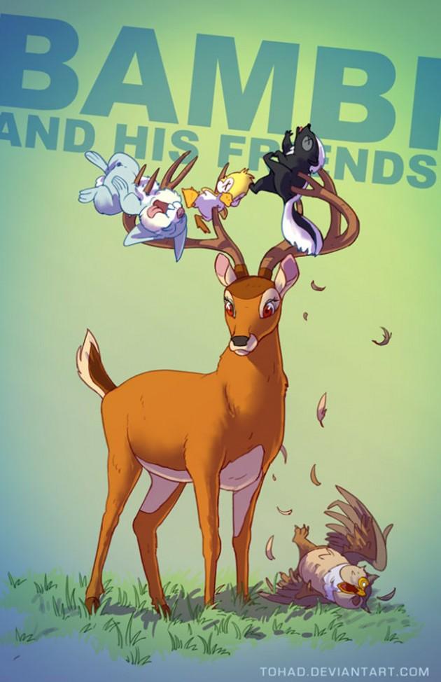 Badass-Illustrations-Of-Popular-Childhood-13