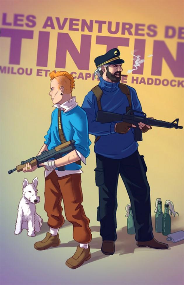 Badass-Illustrations-Of-Popular-Childhood-7
