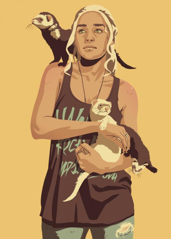 Khaleesi-Modern-Illustration-580x812