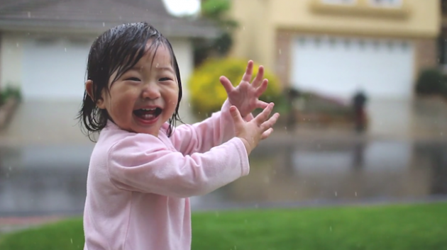 chuva crianca