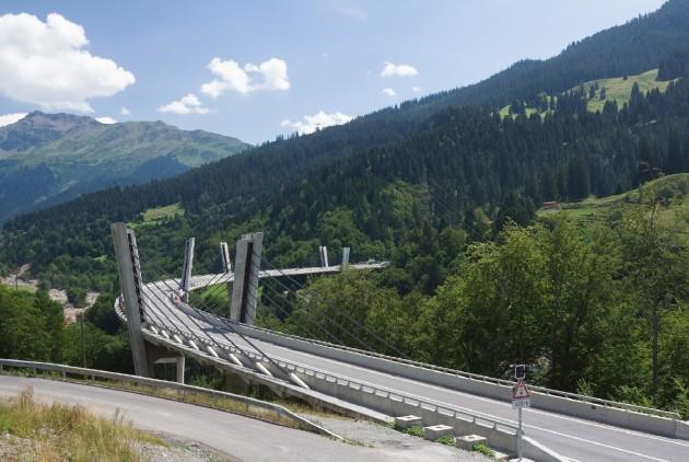 Sunniberg Bridge - Klosters, Suiça