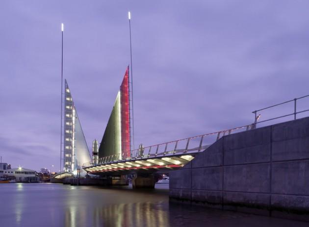 Twin Sails Bridge - Poole, Inglaterra