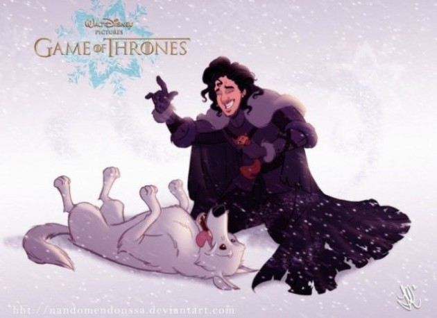 Jon Snow (knows nothing) e Fantasma