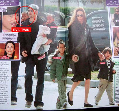 20) Brad Pitt você esqueceu seu outro filho ali atrás.