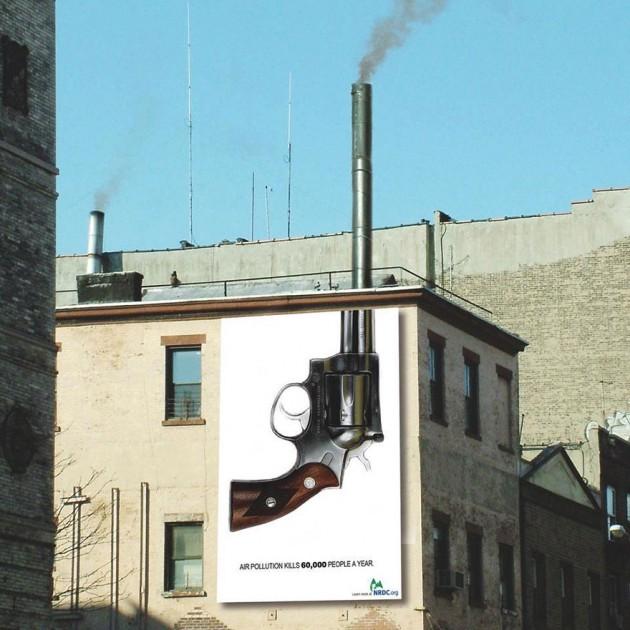 O Ar Poluído mata 60 mil pessoas por ano.