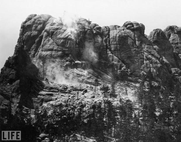 Essa era a visão de Monte Rushmore, antes dos rostos serem esculpidos em 1927.