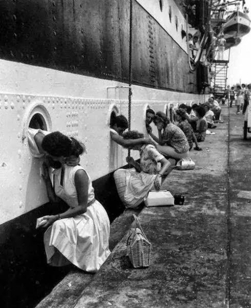 Despedida de alguns soldados para a Segunda Guerra Mundial
