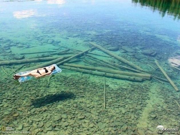 #10 - Lago Transparente, em Montana, nos EUA