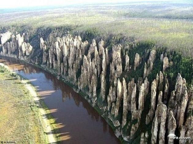 #4 - Parque Natural Lena Pillars, na Rússia