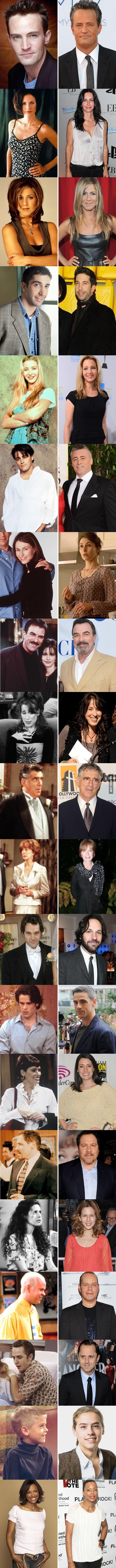 antes e depois dos atores do friends