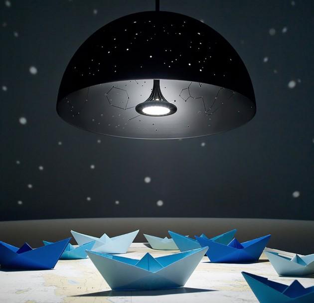 Lâmpada com Guia das estrelas