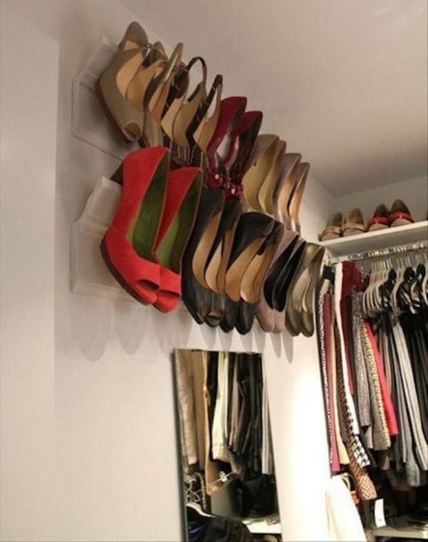 Suporte de parede para seus sapatos