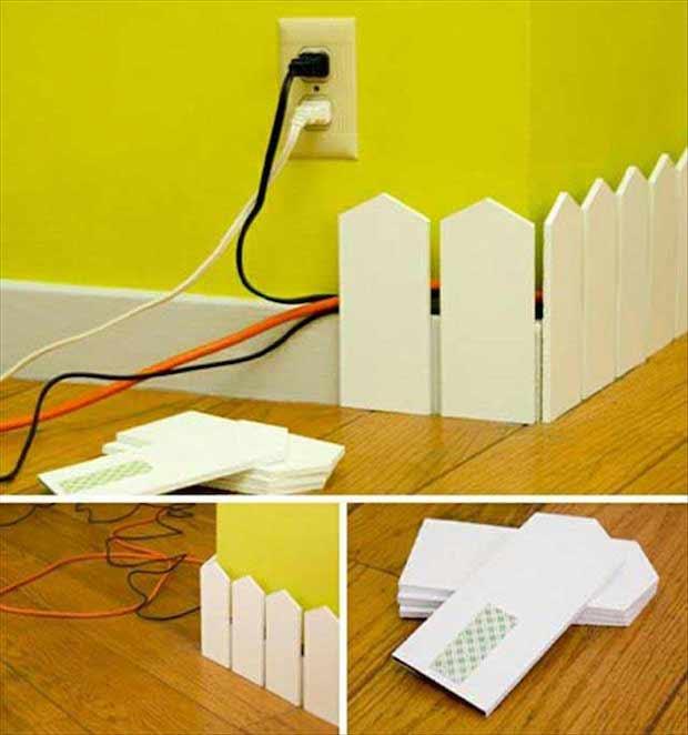 Organizador de fios para sua casa.