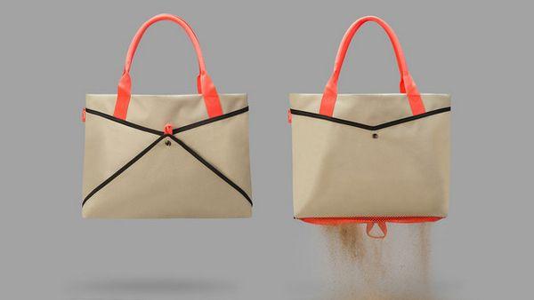#9 E o que você acha de uma bolsa de praia que te ajudar a retirar toda a areia?