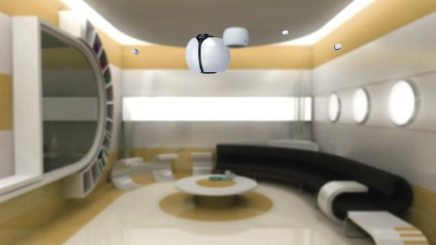 Já imaginou um eletroeletrônico levitando pela sua casa? Este produto conceito faz isso e calcula em tempo real os obstáculos com ajuda de sensores.
