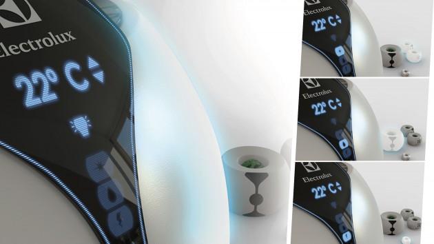 Este conceito pode atender a várias necessidades do usuário, tais como: Iluminação do ambiente e umidificação e purificação do ar. Funciona também como ar condicionado.