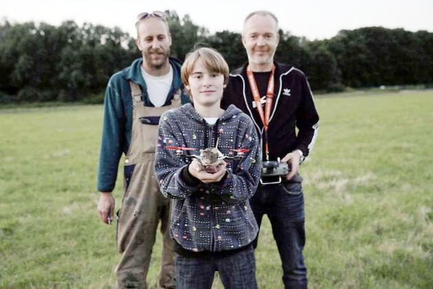 Bruins, de 13 anos e os cientistas Beltman e Jansen