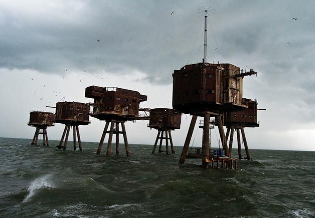 Os fortes de Maunsell, na Inglaterra