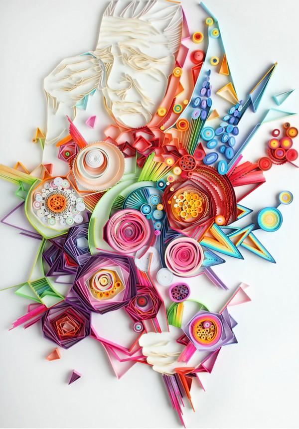 A Colorida e hipnotizante arte com papel de Yulia Brodskaya