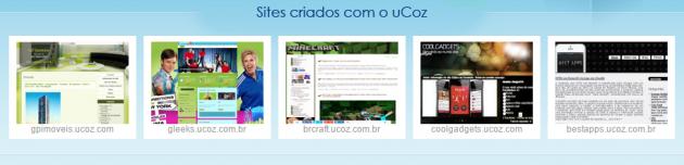 sites criados com ucoz