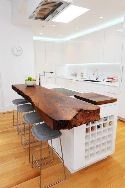 Aproveitando o espaço do meio da sua cozinha