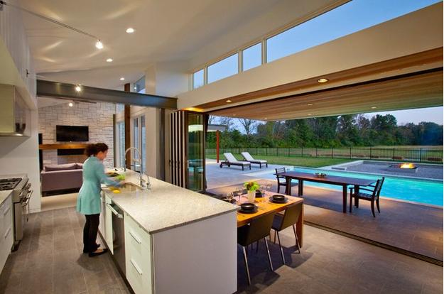Coloque vidro ao invés de paredes para ter uma boa profundidade da casa