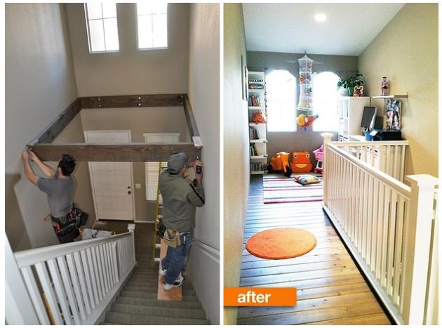 Você pode também aproveitar o espaço de cima da escada