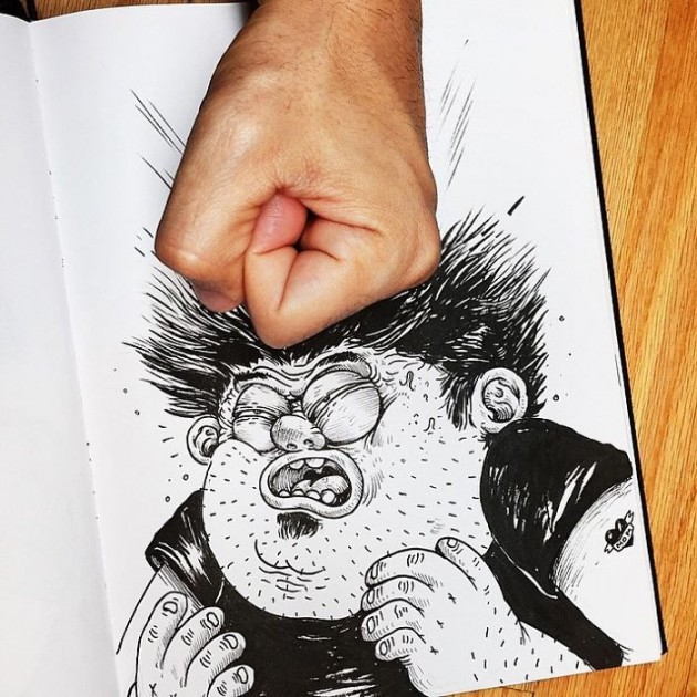 Funny-Drawing-Character-Fighting-His-Maker5__700