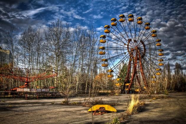 #6 -Cidade fantasma de Pripyat, Ucrânia. Os moradores da cidade trabalhavam na usina nuclear de Chernobyl.