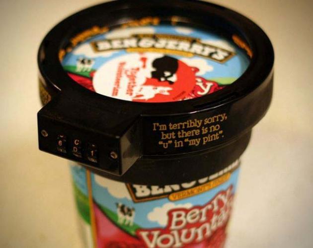 #7 - Cadeado com senha para seu sorvete.