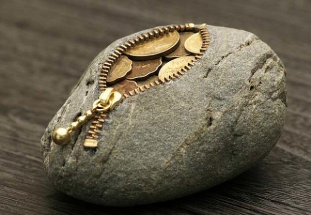 #21 - Porta Moedas em formato de rochas