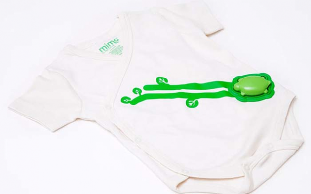 #9 - Roupa para monitorar os sinais vitais do seu bebê. Ele transmite todos os dados para seu smartphone