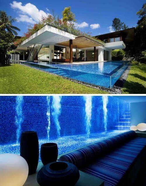 #2 - Visão da sala para a piscina