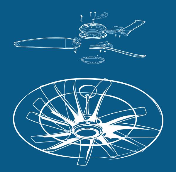 Ventiladores Latina_hélices planejadas para melhor aerodinâmica
